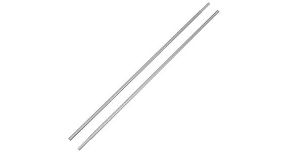 CAMPZ Varillas de aluminio - Accesorios para tienda de campaña - con manga de 8,5 mm set de 2 pzas Plateado